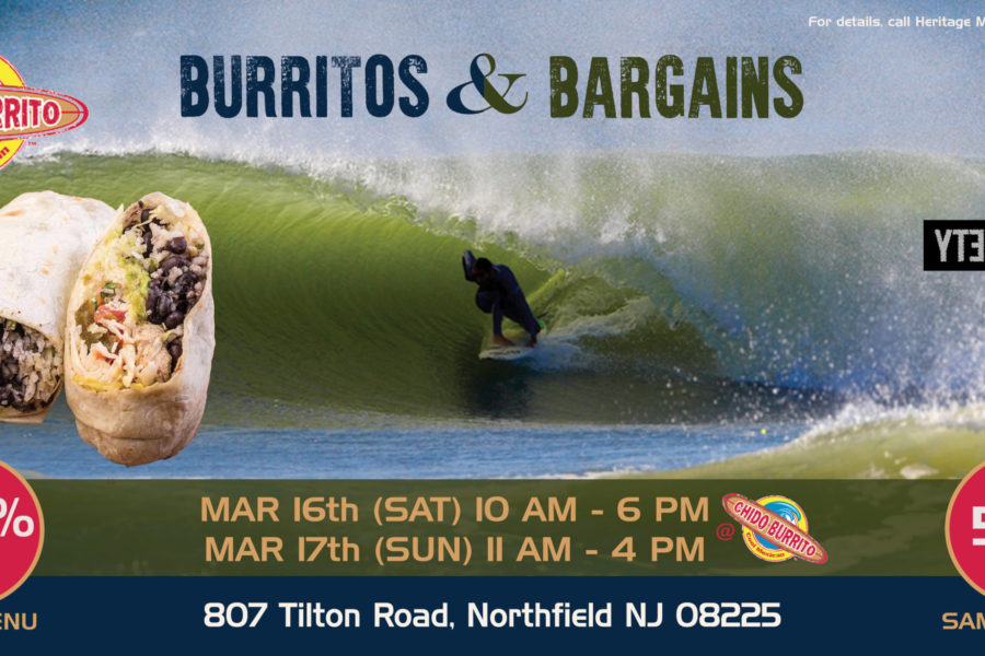EVENT! Sample Sale at Chido Burrito – March 16-17th!